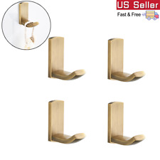 4X Brass Robe Hooks Clothes Towel Hook Home Hangers Bathroom Accessories
