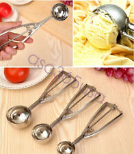 Ice Cream Scoop Stainless Steel Mash Potato Spoon Kitchen Tool Server Food3 Size