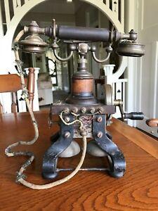 """1900s L.M.Ericsson AC110 """"Skeletal"""" phone"""