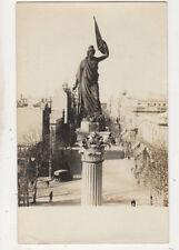 Montevideo Estatua Libertad Plaza de Cagancha Uruguay RPPC Postcard US062