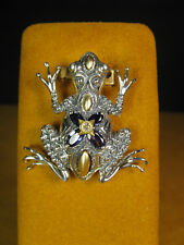 BARBARA BIXBY FROG IOLITE FLOWER ENHANCER PENDANT CARVED DESIGNER Christmas Gift