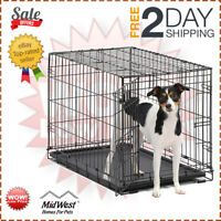 MidWest Homes for Pets Dog Crate | iCrate Single 30-Inch w/ Divider Single Door