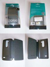 LG Leon H340n Book Case Flip cover Nillkin anthracite gray