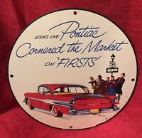 VINTAGE STYLE TEXACO PORCELAIN SIGN 12IN WITH PIN-UP ROUND PUMP PLATE