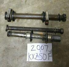 2007 Kawasaki KX250F Rear Front Wheel Axle Swingarm KX 250 F KX250 250F L@@K