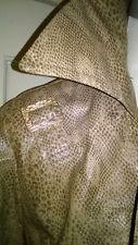 1960s Stone-Dri Python Print PVC Trench Coat 12