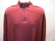 NEW Chaps Red Sweater Shirt 1/4 inch Zip Size Large NWT