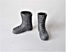 COMBAT BOOTS BLACK suits 30cm 12in Action Figure Man 1/6 GI JOE DRAGON DID DAM