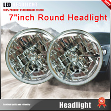 "NEW! 2X H4 Halogen Light Bulbs White 5000K 7"" Headlight Hi/Lo beam Fit 1972 Opel"