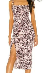 Free People Show Stopper Midi Dress in Pink size S NEW