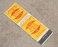 1930s England Great Britain Advertising Matchbook Cover Wills; Gold Flake Nice !