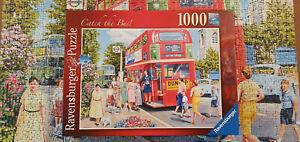"Ravensburger Jigsaw Puzzle ""Catch The Bus"" 1000 pieces. Complete, ex conditon"
