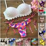 S M L Mujer Push-up Set de bikini Ropa Baño Bañador Sujetador Con Relleno SEXY