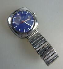 Blaue Herrenarmbandhr Junghans Automatik 653 um/ab 1972 (60315)
