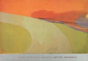 ORI REISMAN Country Road 24 x 34.5 Poster Contemporary Green, Orange