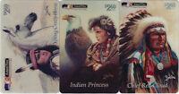 TK 131b Telefonkarte/Phonecard USA Amerivox Indianer Set 4 Chief Red Cloud