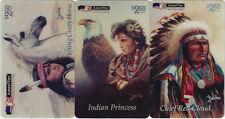 TK Telefonkarte/Phonecard USA Amerivox Indianer Set 4 Chief Red Clo Auflage 5000