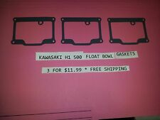 KAWASAKI H1 500  FLOAT BOWL GASKETS *REUSEABLE*  ON SALE $9.99 FITS ALL H2 + H1