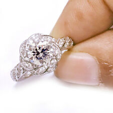 4.10 ct+ D-h Color vvs1 WHITE ENGAGEMENT GORGEOUS .925 Sterling SILVER RING