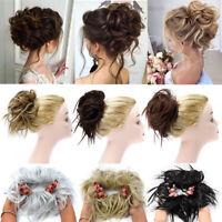 Curly Bun Hair Extensions Hair Piece As Human Hair Bun Scrunchie Messy Chignon