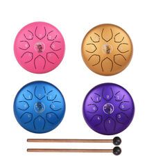 More details for 6 inch steel tongue drum 8 notes hand pan c tune tank drum instrument + bag l8x7