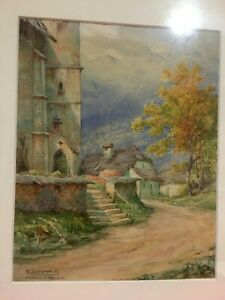 Nr. 110, Aquarell  Vigaun  Hallein  Salzburg  E. Leemann  Flaach Uster