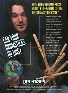 1997 Print Ad of Pro-Mark Drumsticks w Dave Abbruzzese Green Romance Orchestra