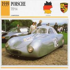 1939 PORSCHE TYPE 64 Racing Classic Car Photo/Info Maxi Card