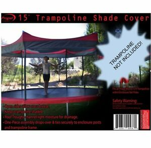 Sun Shade Cover for 15' Round Trampolines Open Sides Weather and UV Protection
