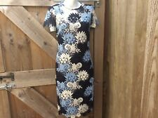 M&S COLLECTION LADIES LACY EMBROIDERED OCCASION MIDI LENGTH DRESS WED UK6/ EUR34
