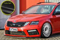Spoilerschwert Frontspoiler ABS Skoda Octavia  RS 5E Facelift ABE Carbon Optik