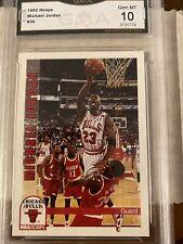 Gem Mint 1992-93 NBA HOOPS #30 MICHAEL JORDAN HOF GMA 10