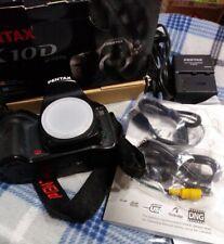 Pentax K10D 10.2MP Digital DSLR Camera w/ Box, Batt, Charger, more~Sh Count 4021