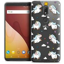 "Cover Crystal Gel For Wiko View PRIME 5.7"" Flexible Fantasia Licorne In the Sky"