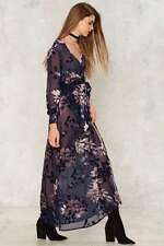 NWT $120 NASTY GAL Feel The Burnout Velvet Maxi Dress XS