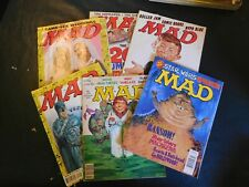 New Listing Mad Magazines Lot of 6 from1990's- Lower Grade