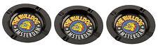 The Bulldog Amsterdam 3 Metall Aschenbecher schwarz Lizenzware 360500