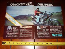 1980 HONDA CB750 VETTER QUICKSILVER - ORIGINAL 2 PAGE AD