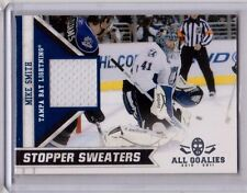 MIKE SMITH 10/11 Panini All Goalies Stopper Sweaters Jersey #12 Lightning Card