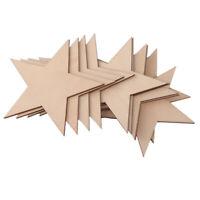 25 Stück natürliche unvollendete leere Holz Holz Sterne Sterne Dekor-Handwe Z3R2