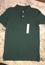 Nwt Lot of (3) Boys Cat & Jack School Uniform Polos Size Xl (16) Dark Green