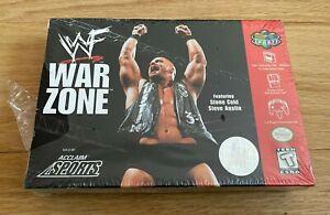 WWF  War Zone Wrestling Authentic Nintendo 64 N64 BRAND NEW Sealed! CLEAN!!!