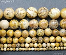 "Natural Picture Jasper Gemstone Round Beads 2mm 4mm 6mm 8mm 10mm 12mm 14mm 16"""
