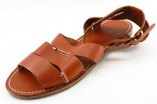 Tommy Bahama Size 7 M Brown Ankle Strap Leather Women Sandal Shoes
