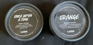 Lush Cosmetics Orange Shower Scrub 130g & Once Upon A Time Body Lotion Brand New