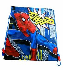 Official Spiderman Ultimate Marvel School PE Gym Swim Nursery Shoe Bag Boys Blue