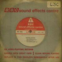 "BBC SOUND EFFECTS CENTRE 'EC63C' UK 7"" SINGLE 33 RPM 5 SOUND EFFECTS TRACKS"
