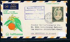 62409) LH  FF Amsterdam - Los Angeles USA 2.4.69, SoU ab Vatikan