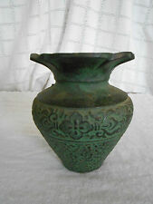 Vintage cast iron Ikebana Japanese vase Nice!