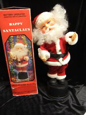 Vintage Battery Operated Happy Christmas Santa Claus Lighted Motion Musical 15